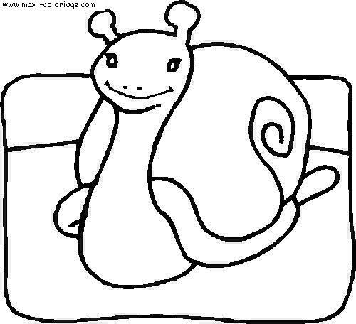 coloriage Escargots